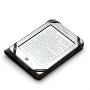 Premium Black Case for Kindle Touch Glare-Free with Slim LED Light